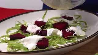 Asparagus Ribbon Salad With Beets & Burrata