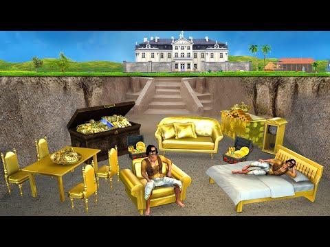 गुप्त स्वर्ण गृह Underground Secret Golden House Hindi Kahaniya Stories हिंदी काहनिया Comedy Video