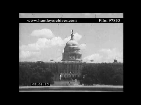 Washington D.C. Capitol building, U.S.A.  Archive film 97833