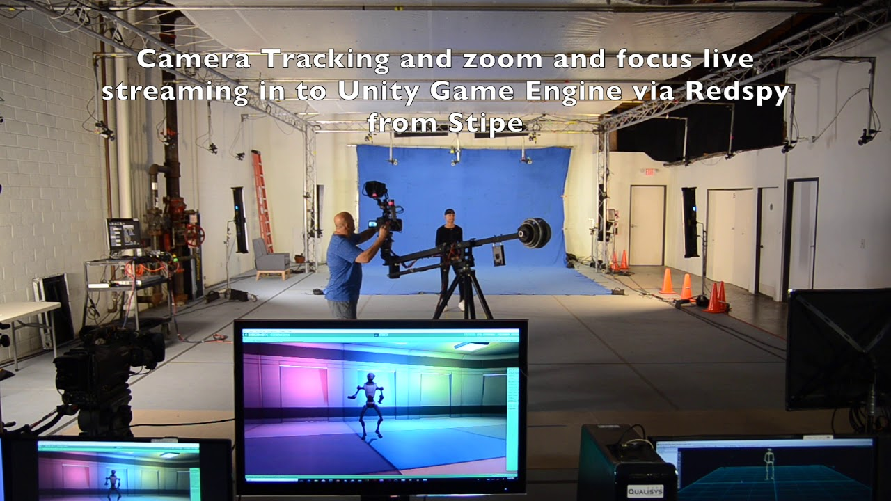 Unity demo with live optical mocap and camera Tracking in realtime live