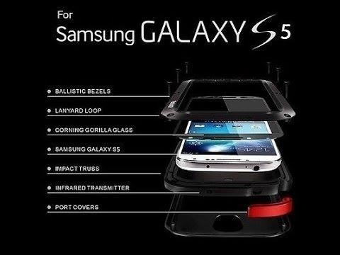 check out b2b58 e5db3 Samsung Galaxy S5 Aluminum Metal Gorilla Glass Shock Water Proof Case