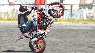 Как Делать Вилли Сидя на Мотоцикле