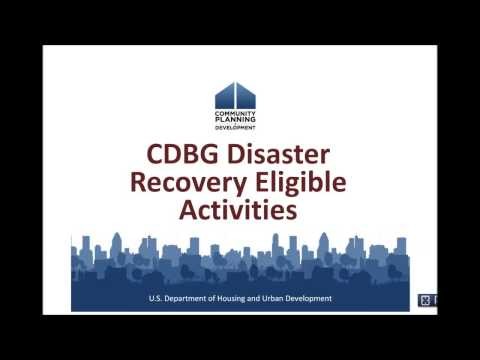 CDBG-DR Training: Eligible Activities