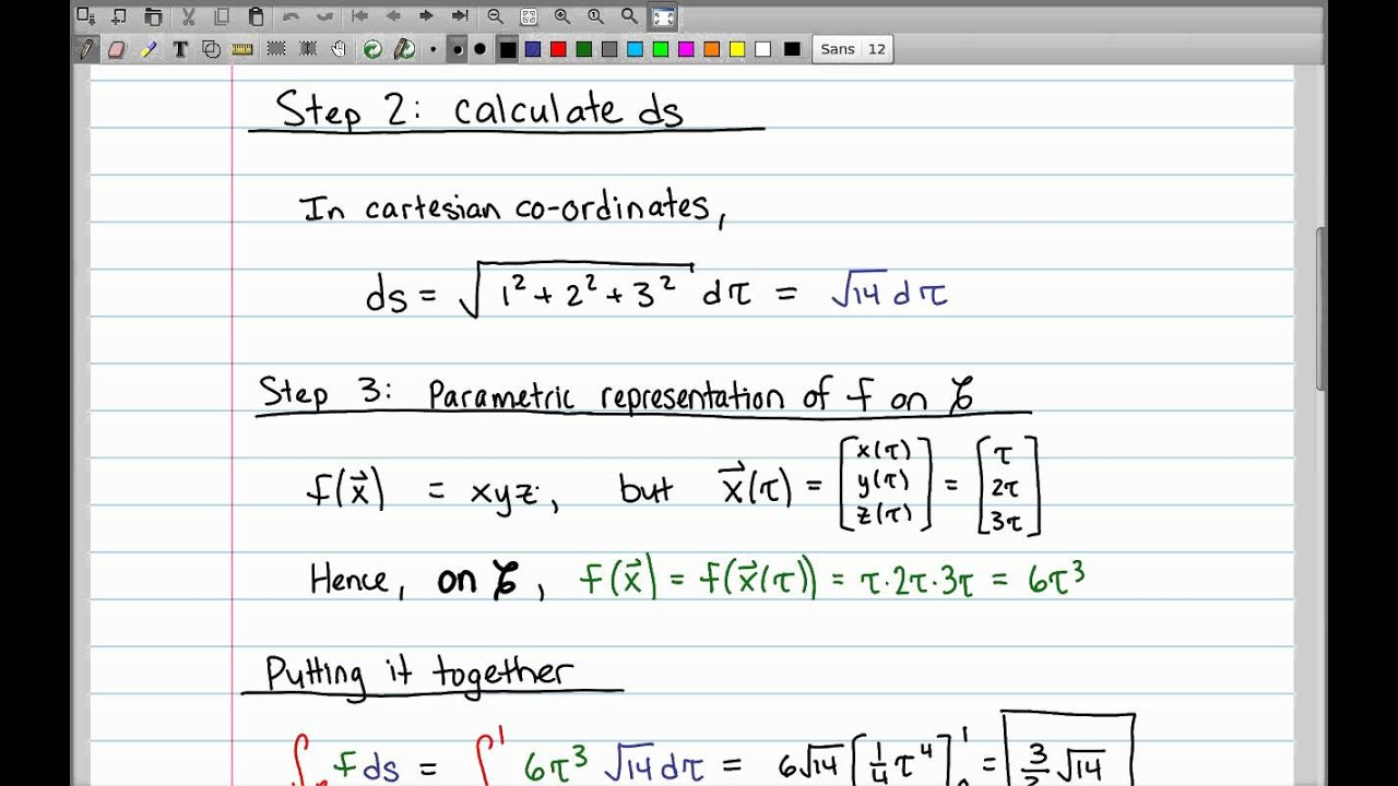 Calculus 3: line integrals (17 of 44) what is a line integral? [y.