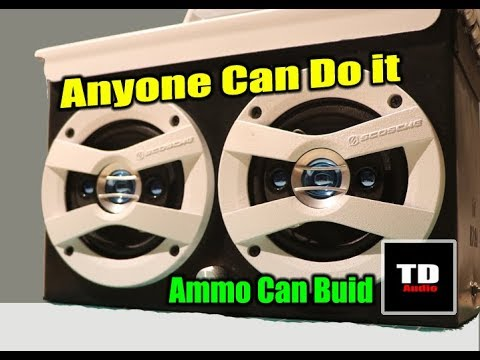 How to Build an Ammo Can Speaker - Simple Way