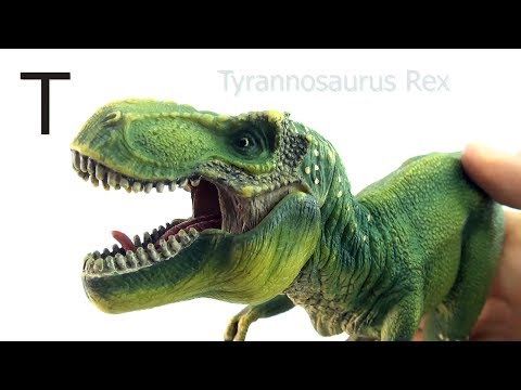 Schleich Dinosaurs Learn letters Alphabet - Learing Dinosaur names first letter - Tyrannosaurus Rex