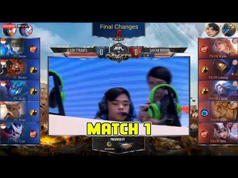 Flash Tyrants vs Saiyan Reborn Match 1 Playoffs MPL MY/SG Season 2