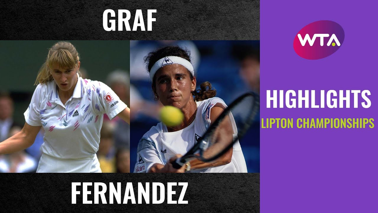 Stefanie Graf vs. Mary Joe Fernandez | Extended Highlights | 1992 Lipton Championships Quarterfinal