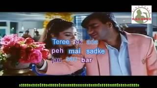 Kitna hasin chehra.. hindi karaoke for Male singers with lyrics