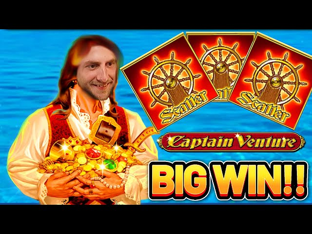 BIG WIN! CAPTAIN VENTURE BIG WIN -  Highroll €10 bet on Casino Slot from Novomatic