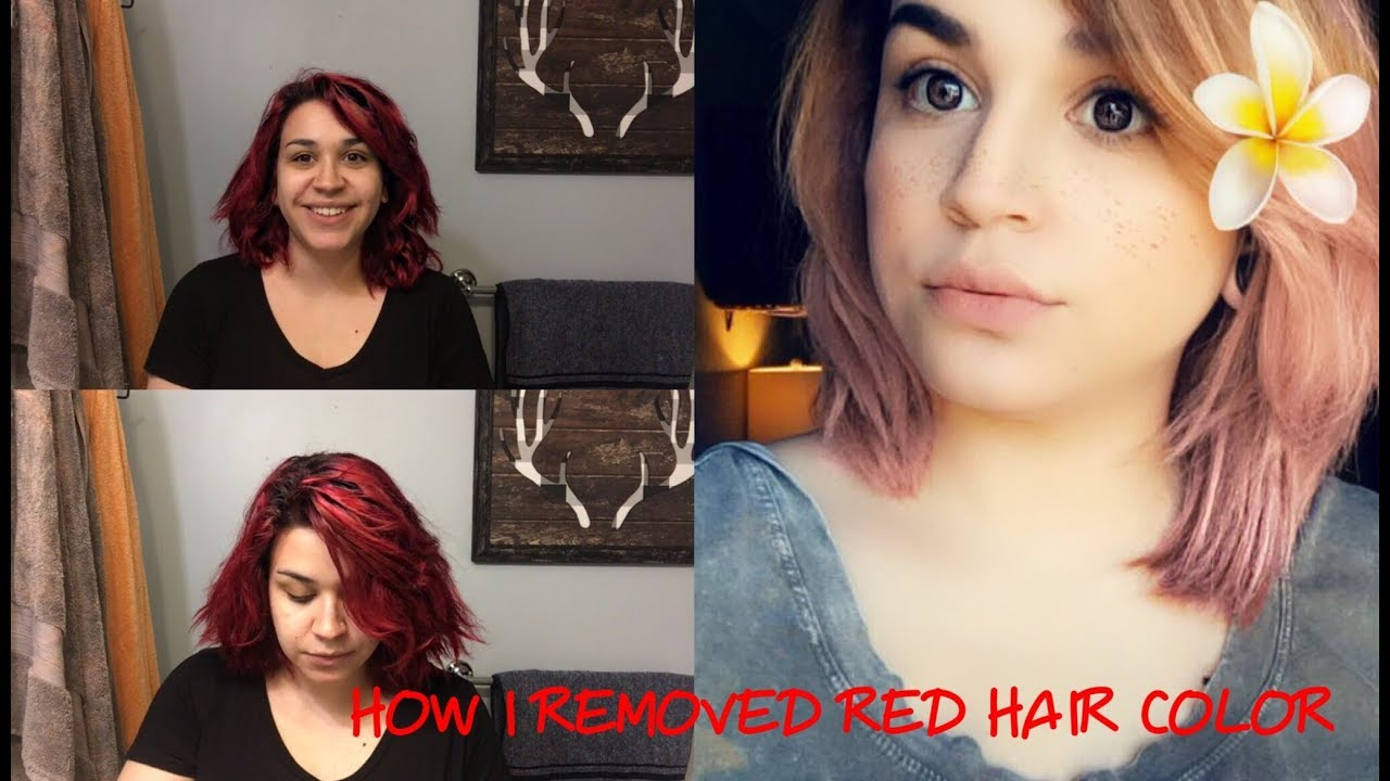 How To Remove Semi Permanent Dye At Home Red To Brownblonde