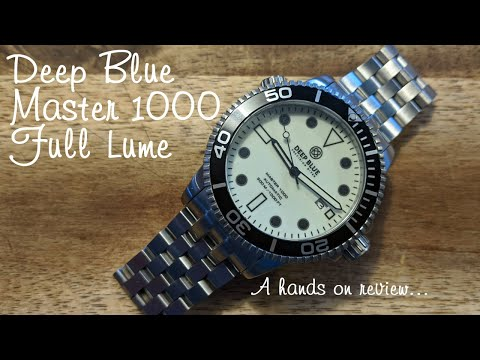 Deep Blue Master 1000 Full Lume Automatic Diver's Watch - Hands On Review