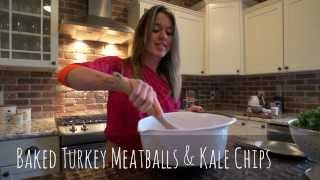 Baked Turkey Meatballs & Kale Chips Recipe - Carolina B