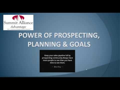 SAA Power of Prospecting, Planning & Goals