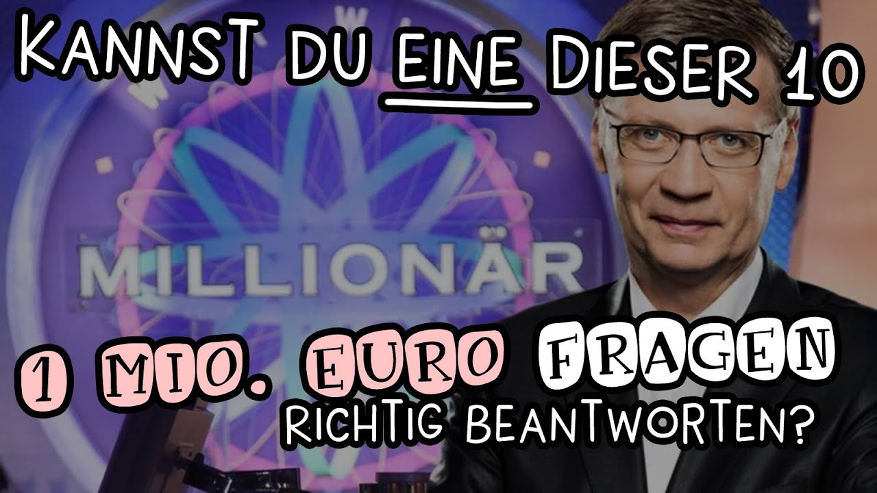 Wer Wird Millionär 1 Million Euro Fragen Youtube
