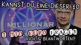 Wer wird Millionär: 1 Million Euro Fragen
