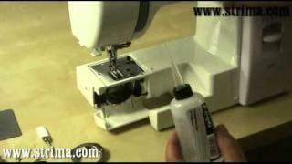 STRIMA, údržba a čištění šicího stroje Janome s CB chapačem.mp4