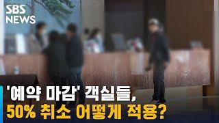 '예약 마감' 객실들, 50% 취소 어떻게 적용?…당혹…
