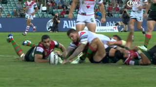 ST. GEORGE ILLAWARRA DRAGONS V SOUTH SYDNEY RABBITOHS: NRL HIGHLIGHTS | Round 5 2014