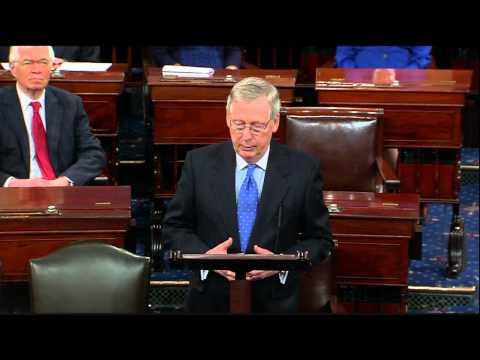 U.S. Senate Majority Leader Mitch McConnell Welcomes Senators, Opens the 114th Congress
