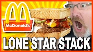 McDonald's Lone Star Stack Double Burger Review in Texas   KBDProductionsTV