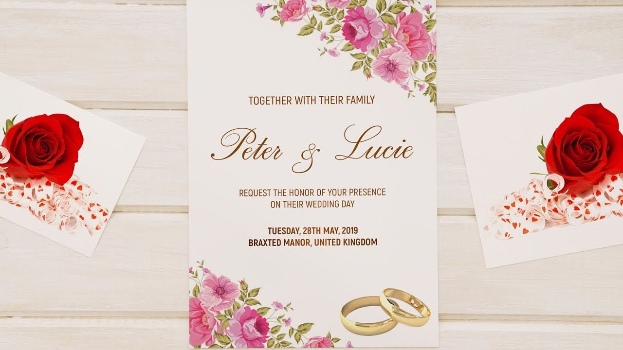 How To Design A Wedding Invitation Card Photoshop Tutorial Simplified