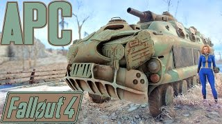 Fallout 4 - Armoured Personnel Carrier! - APC Home On The Move - Mobile Player Home Mod