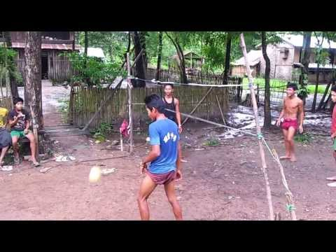 Chinlone game of  Myanmar
