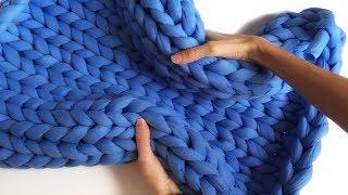толстая пряжа для вязания руками. Тестируем и распускаем