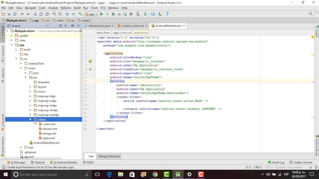 3 2 Estructura De Un Proyecto En Android Studio Youtube