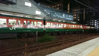 115系(伯備線普通列車3B湘南色)1845M  EF66-27(2017 貨物フェスティバルHM付き)2072レ  北長瀬駅離合発車通過