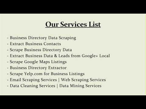 USA New Business Data List from Manta and Yellowpages