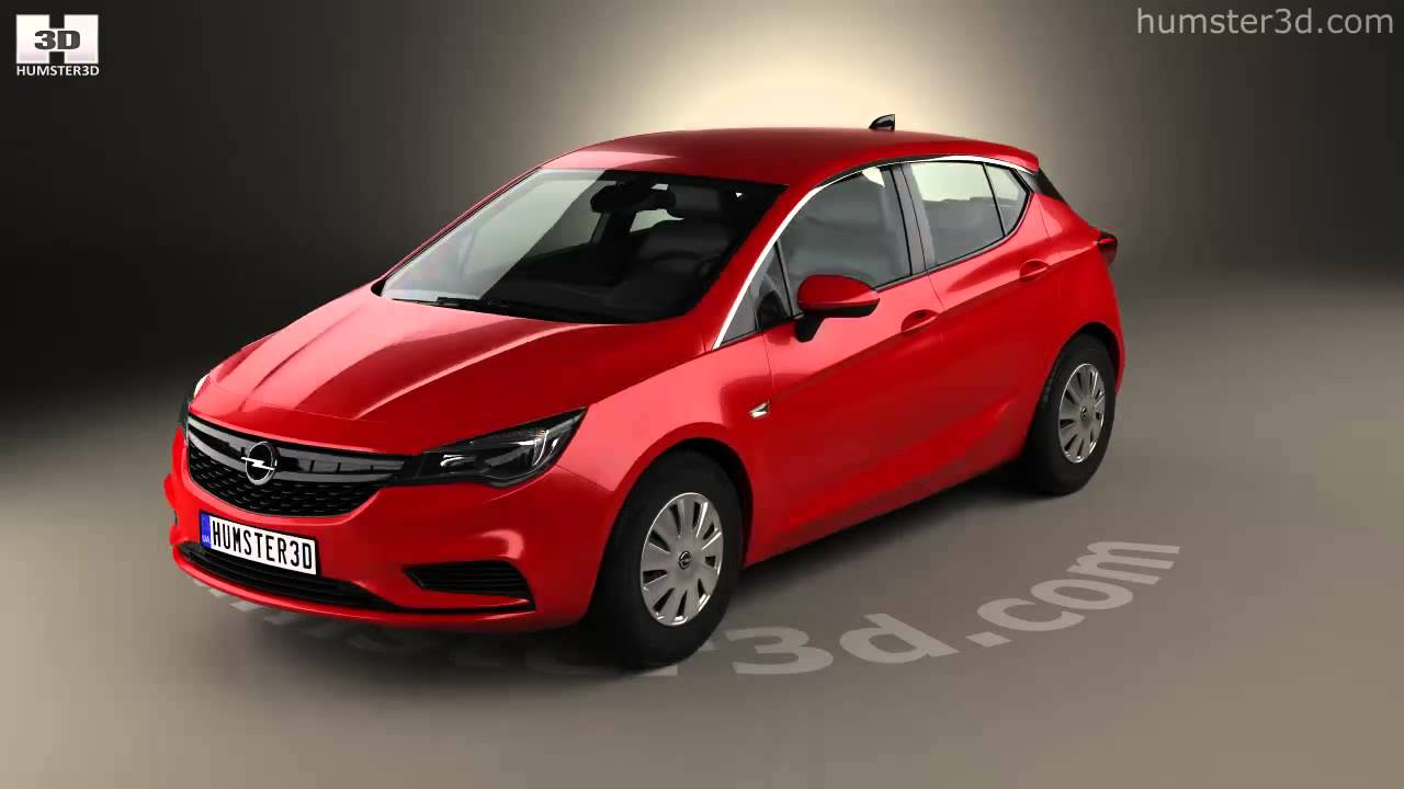 Opel Astra K Selection 2016 by 3D model store Humster3D ...