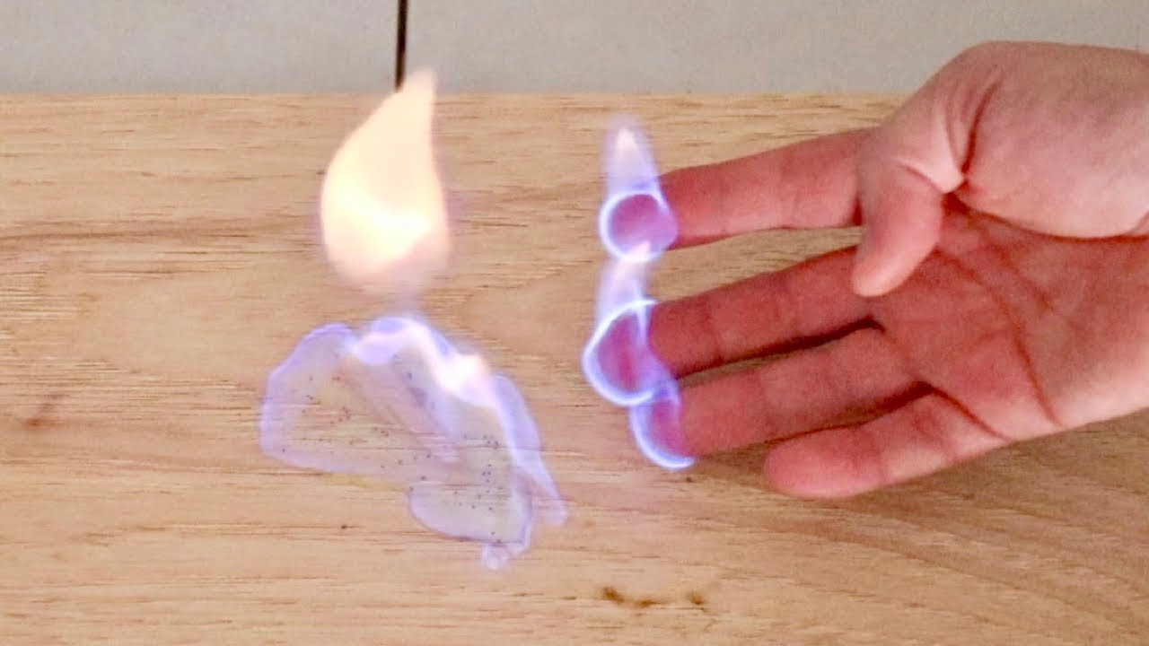 How To Hold Fire Without Burning Yourself Fire Experiment Youtube