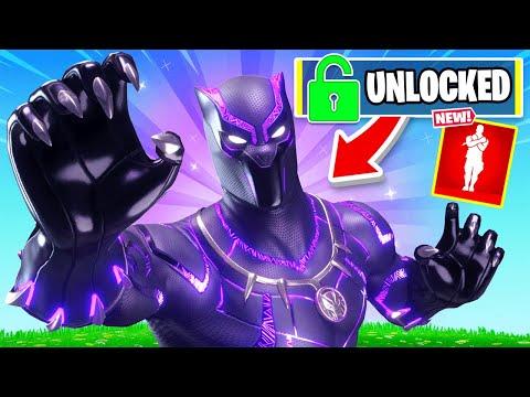 Unlocking *BLACK PANTHER* in FORTNITE!