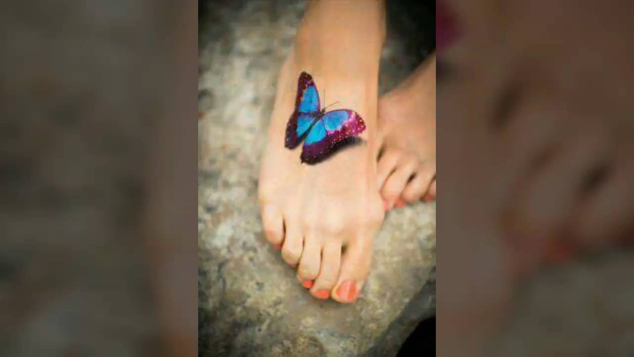 Tatuajes De Mariposas En 3d Youtube
