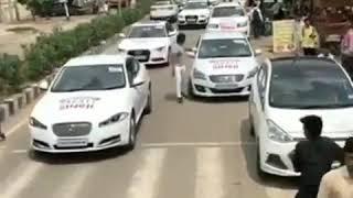 Sahid bhagat singh college election rally#luxury cars Delhi #abvp 🔝