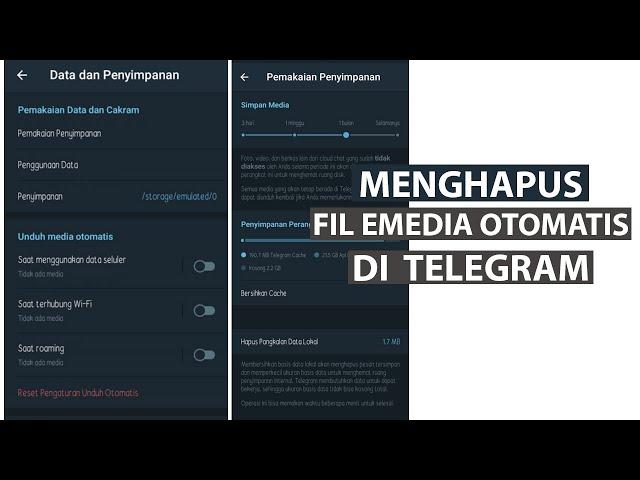 Cara Menghapus File Media Otomatis di Telegram