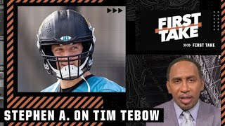 Stephen A. wishes Tim Tebow the best after being released from the Jaguars