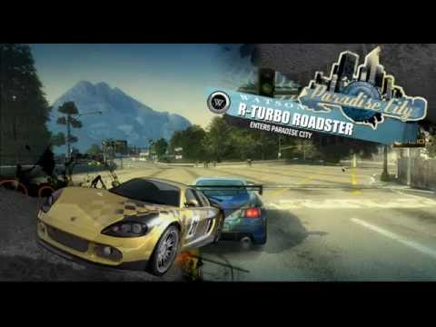 BURNOUT PARADISE CITY+TRYING TO UNLOCK NEW LICENSE+STUNTS+WRECKS+NEW CARS