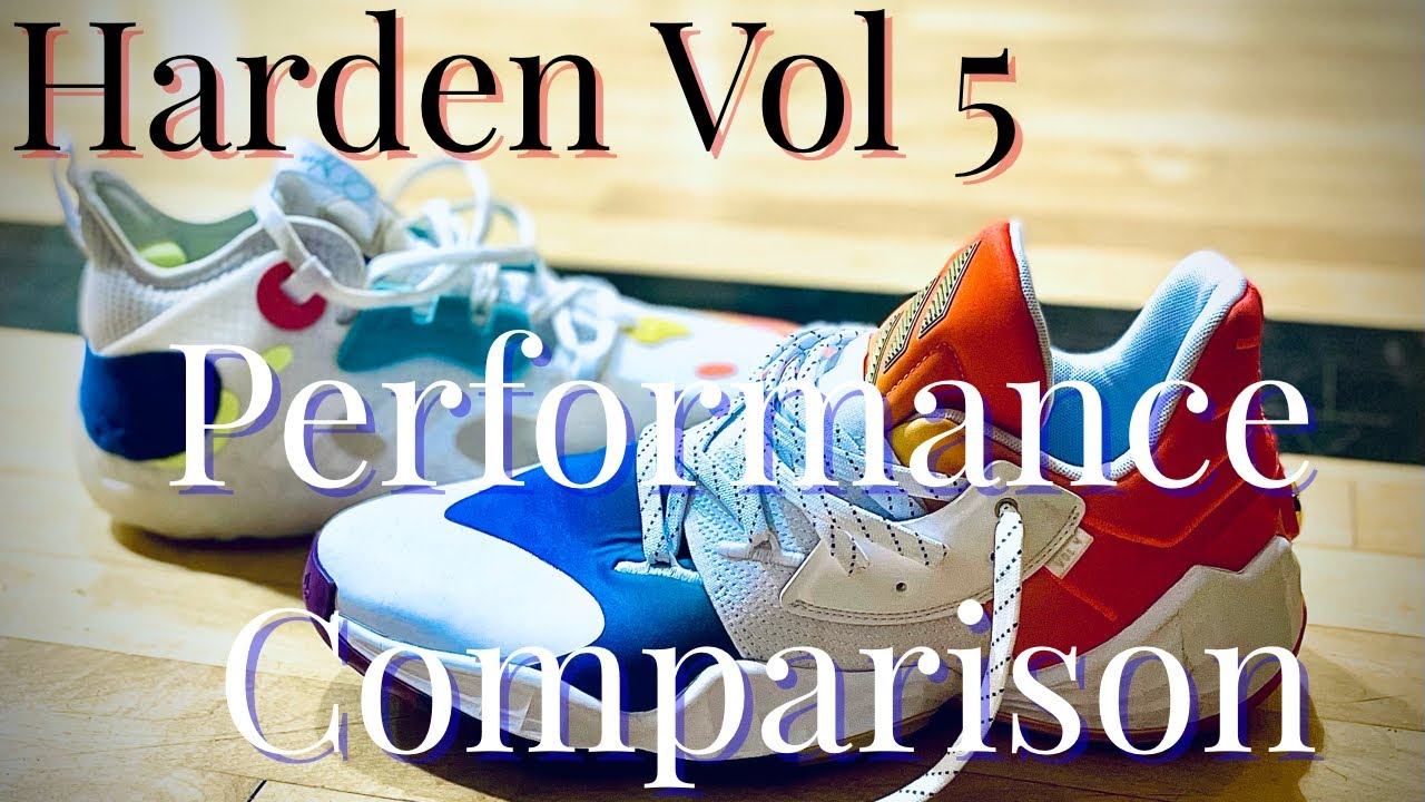 Adidas Harden Vol 5 Performance Comparison