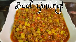 How to cook Beef Giniling!