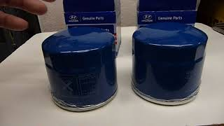 """Hyundai Oil Filters P/N 26300 35503 and 26300 35504 ... REAL Hyundai oil filters with the """"H"""" inside"""