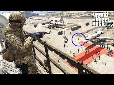 PRESIDENT ASSASSINATION!! (GTA 5 Mods) thumbnail
