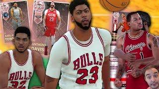 NBA 2K18 My Team THREE NEW PINK DIAMOND DEBUT! PINK DIAMOND AD AND KAT ARE FEASTING!!