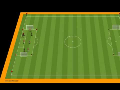 4 Box Dribbling with 3 Teams of 4
