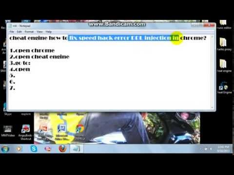 Cheat Engine How To Fix DDL Injection In Chrome