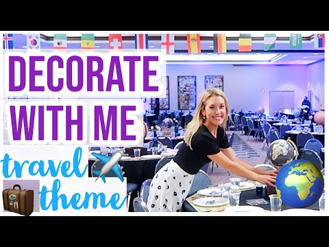 DECORATE WITH ME! ✨✈️🧳TRAVEL PARTY THEME DIY DECOR INSPO |  FALL 2019 BAR MITZVAH PARTY Brianna K