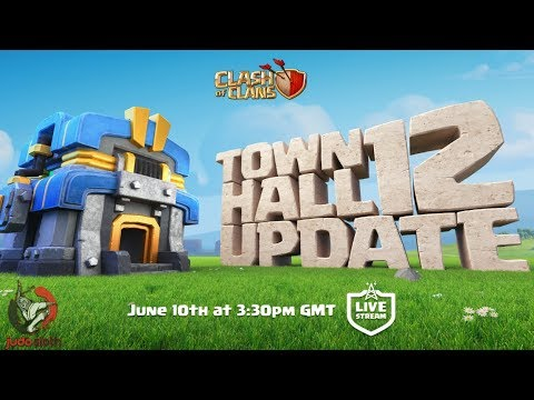 Town Hall 12 UPDATE LIVESTREAM - Clash of Clans! New Troop Electro Dragon and Siege Machine 5v5 War!