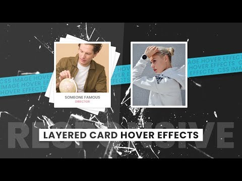 CSS Layerd Card Hover Effects | Html CSS Responsive Design thumbnail